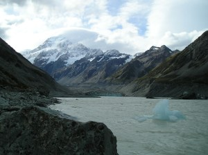 Mueller Lake, Mueller Glacier and Mount Cook, New Zealand-Aotearoa