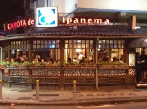 """Restaurante """"Garota de Ipanema"""", rua Vinícius de Moraes"""