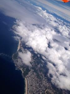Rio vu du ciel, les plages de Leblon et de Barra