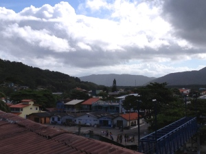 Barra da Lagoa, la vue depuis le bar de mon auberge