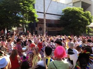 """Un """"bloco"""" en las calles de Belo Horizonte"""