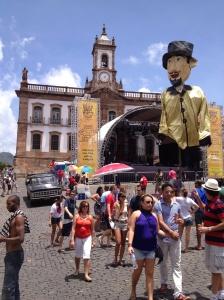 Carnaval em Ouro Preto, Praça Tiradentes