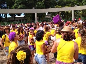 Um bloco muito feminino em Praça Duque de Caxias, Santa Tereza, BH